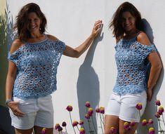 Jetzt mit Deiner Lieblings-Baumwolle ein Netzshirt mit angesagtem Schulterausschnitt häkeln. Super für den Sommer ++ ganz leicht nachzuarbeiten. Leg los.
