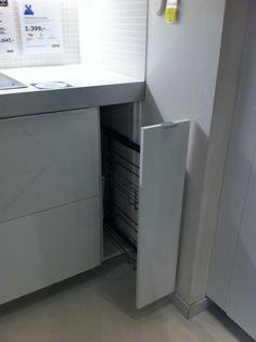 Extra ruimte in een klein hoekje - Metod Ringhult - hooglanzend wit - keuken 6 Ikea Gent