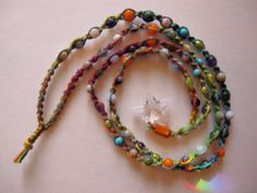 Colorful Hemp Macrame Necklace with by AgaEsbensenDesigns on Etsy, $89.00