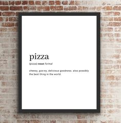 Pizza Jokes, Funny Pizza, Food Captions, Best Quotes, Funny Quotes, Digital Prints, Digital Art, Pizza Kitchen, Wooden Boards