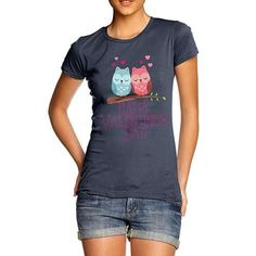 Valentine's Day O...  Rock In Style With Twisted Envy creative Art, Personalised Gifts, funny t-shirts & more,     http://twistedenvy.com/products/valentines-day-owls-womens-t-shirt?utm_campaign=social_autopilot&utm_source=pin&utm_medium=pin