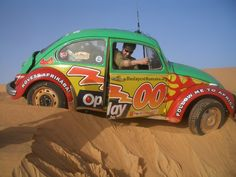 1971 VW Beetle trapped in sand in Mauritania