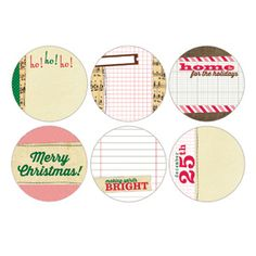 Be Merry - 3 inch Circles - I know these are journaling tags but with a little stickles and carstock mounting, they could be gift tags.