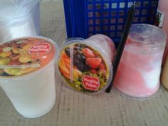 Yoghurt Cup Isi Buah plus Jelly 300 ml @Rp. 8.500,- # more information http://distributoryoghurtbandung.blogspot.com