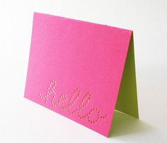 Adorable notecards. Who wouldn't smile when they open an envelope and see this?
