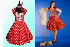 SAMPLE SALE SIZE 16 Ready to Ship Red Polka Dot by ContrarietyRose