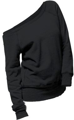 Comfy One Shoulder Black Hoodie