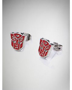 Transformers Red Autobot Stud Earrings - Spencer's