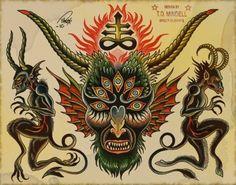 Spiders, Design Tattoos, Tattoo Flash, Coming Tattoos, Flashes Tattoos, Tattoo'S, Devil Traditional Tattoo, Assorted Tattoos