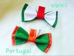Wales VS Portugal Football fan bow ties handmade by Betolli specially for UEFA2016 #UEFA2017