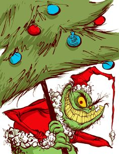 SkottieYoung.com | #DailySketch The Grinch