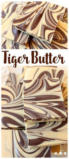 Tiger Butter Fudge - a simple but indulgent fudge recipe that requires only 3 in. Tiger Butter Fudge - a simple but indulgent fudge recipe that requires only 3 ingredients and 5 minutes to make! Butter With A Side of Bread Delicious Desserts, Dessert Recipes, Yummy Food, Cake Recipes, Recipes Dinner, Desserts Diy, Chocolate Flavors, Chocolate Peanut Butter, Chocolate Chips