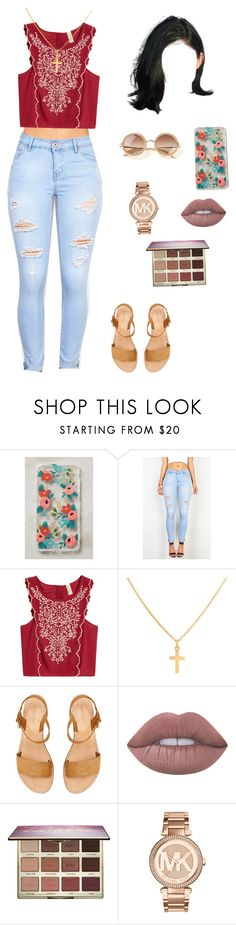 """""""Untitled #290"""" by amellali-garcia ❤ liked on Polyvore featuring Rifle Paper Co, Sterling Essentials, Lime Crime, tarte, Michael Kors and The Row"""