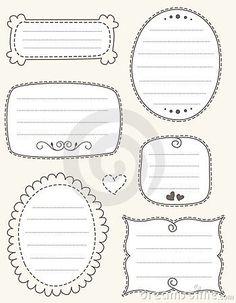 Doodle frame collection by Dreamzdesigner, via Dreamstime