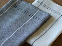 2 Küchentücher Grafit Uno Due Leinen Baumwolle
