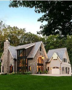 new modern dream house exterior design ideas 13 ~ IRMA Dream Home Design, My Dream Home, House Design, Style At Home, Casas Tudor, Dream House Exterior, Home Exterior Design, Home Exteriors, Home Styles Exterior