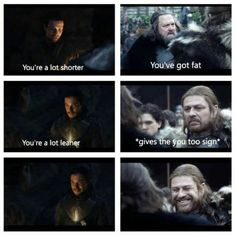 Another Season 7 / Season 1 parallel. Jon and Gendry / Ned and Robert. Game of Thrones. ASOIAF