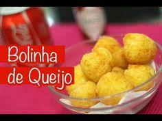 Bolinha de Queijo - Ana Maria Braga -   Ingredientes:  100 g de polvilho doce (1 xícara de chá rasa) 3 ovos 500 g de queijo minas padrão ralado no ralo grosso (ou o queijo da sua preferência)