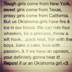 I'm an Oklahoma Girl!