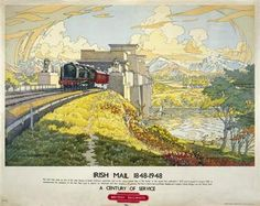 Ireland Rail Travel Posters Vintage