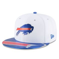 67b4ed7b8fd Sports Shop has Youth New Era White Buffalo Bills 2017 NFL Draft Official  On Stage Fitted Hat plus easy flat rate shipping!