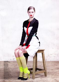 Lindsey Wixson; Vogue China March 2012  photographed by Willy Vanderperre
