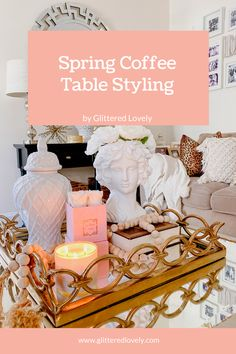 Sharing details on how to freshen up your coffee table for springtime. #coffeetable