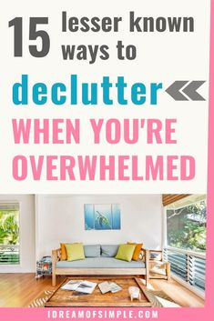 Are you overwhelmed by the clutter in your house? Start with these 15 tips and you'll quickly be decluttering your home stress-free. Click here to read the 15 simple tips and finally learn how to keep your home clean and tidy in 2021! Declutter Your Home, Organizing Your Home, Minimalist Lifestyle, Minimalist Living, Simple Blog, Clutter Organization, Feeling Overwhelmed, Decluttering, Simple Living