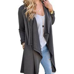 Long Sleeve Open Front Light Weight Cardigan