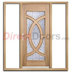 Estate Crown Exterior Hardwood Door with Lead Caming Double