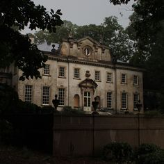 Atlanta's historic Swan House after a summer thunderstorm.