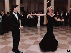 John Travolta dances with Diana, Princess of Wales