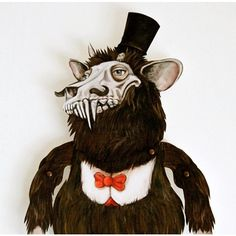 Krampus Holiday Decoration Monster Paper Puppet Popular Nordic... (1.945 RUB) ❤ liked on Polyvore featuring home, home decor, holiday decorations, grey, home & living, home décor, ornaments & accents, holiday ornaments, holiday home decor and outside holiday decorations