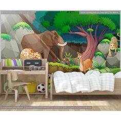 Ταπετσαρία τοίχου φωτογραφική, Jungle. Προσαρμόστε την στις δικές σας διαστάσεις online. Φωτοταπετσαρία στην καλύτερη τιμή. Αυτοκόλλητη υφασμάτινη ταπετσαρία ή χάρτινη ταπετσαρία Toddler Bed, Furniture, Home Decor, Child Bed, Decoration Home, Room Decor, Home Furnishings, Home Interior Design, Home Decoration