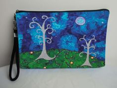Whimsical Trees Large Cosmetic Bag with by SalvadorKitti on Etsy, $17.98