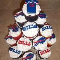 Buffalo Bills cupcakes