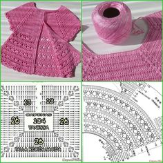 Discover thousands of images about Irish lace, crochet, crochet patterns, clothing and decorations for the house, crocheted. IG ~ ~ crochet yoke for girl's dress ~ pattern diagram Elegant dresses + crochet skirt of tulle. Gilet Crochet, Crochet Vest Pattern, Crochet Fabric, Diy Crochet, Crochet Stitches, Crochet Patterns, Crochet Baby Sweaters, Crochet Baby Cardigan, Crochet Baby Clothes