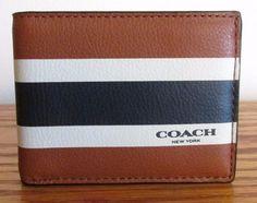 Coach Leather Men's Bifold Wallets with Organizer Leather Men, Leather Wallet, Coach Men, Coach Wallet, Calves, Satchel, Men's Wallets, Card Holder, Men Stuff