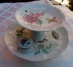 Lenox Butterfly Meadows JewelryPastryCandy Stand  by JaxSnacks, $40.00