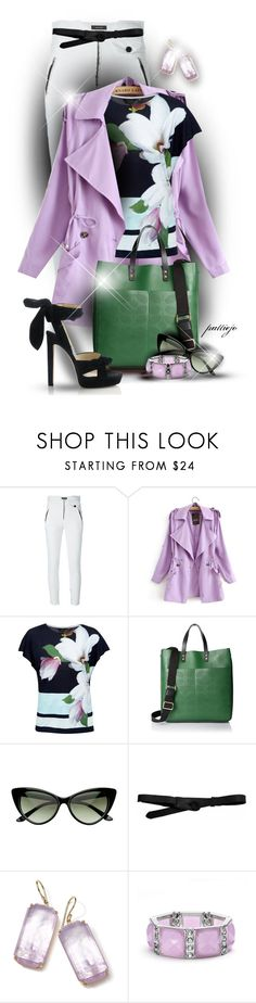 """""""Spring into Purple"""" by rockreborn ❤ liked on Polyvore featuring Isabel Marant, Ted Baker, Orla Kiely, Lowie, Ippolita, Apt. 9, Jimmy Choo, polyvorecommunity and polyvoreeditorial"""