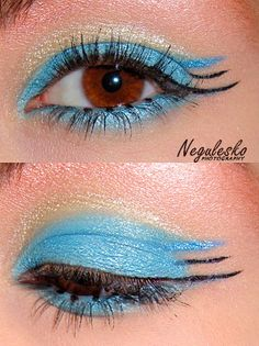 Futuristic eye makeup