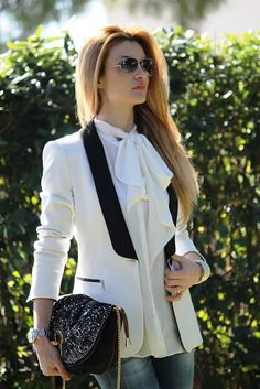 Women Summer Fashion Trends Love the soft ruffle and the light jacket.  Appears to be a comfortable option for the work day.  See You at the Top