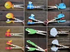 40 DIY Paper Crafts Ideas for Kids- 40 DIY Paper Crafts Ideas for Kids crafts with wooden clothespins - Kids Crafts, Diy Craft Projects, Projects For Kids, Diy For Kids, Diy And Crafts, Arts And Crafts, Craft Ideas, Diy Ideas, 4 Kids