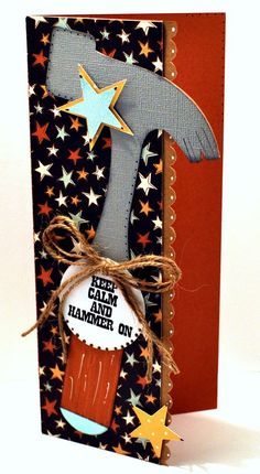 Hammer on CARD from the TOOL TIME SET - GREAT fathers day card