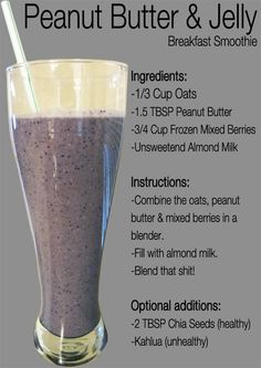 Breakfast in a smoothie.
