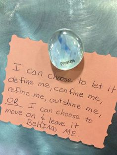This message was posted on the Inspiration Wall in Huntsman Cancer Institute's infusion center waiting room.