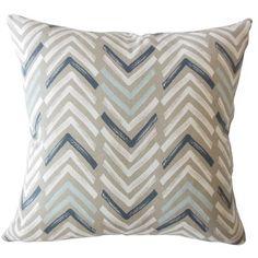 "Corrigan Studio Kristine Geometric Down Filled 100% Cotton Throw Pillow Size: 20"" x 20"", Color: Driftwood"
