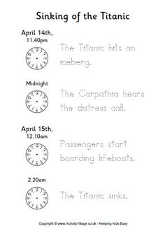 1000+ images about titanic lesson builders on Pinterest ...
