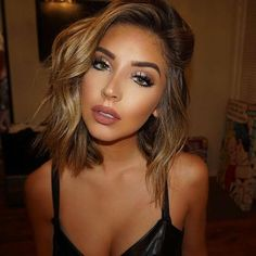 A bronze and glowy makeup look suits everyone with any skin tone. It is just ver… - Prom Makeup Looks Glowy Makeup, Beauty Makeup, Hair Beauty, Natural Makeup, Natural Hair, Tan Skin Makeup, Natural Beauty, Contouring Makeup, Fall Makeup