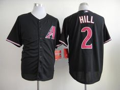 Arizona Diamondbacks #2 Aaron Hill Black Cool Base Stitched Baseball Jersey pls email us via chinajerseyscustomerservice@gmail.com if any questions